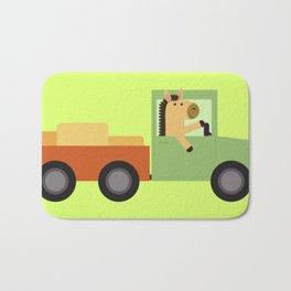 Horse on Truck Bath Mat