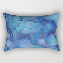 Blue happiness or when you feel blue but not sad Rectangular Pillow