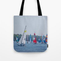 racing Tote Bags featuring Racing by Nonna Originals