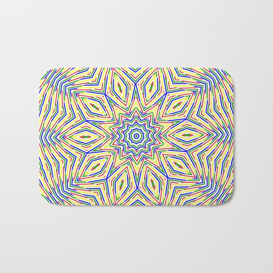 Kaleidoscope Colourful Stripes Bath Mat