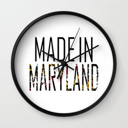 Made In Maryland Wall Clock