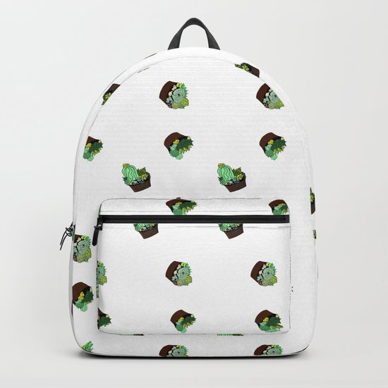 the pattern of cacti Backpack