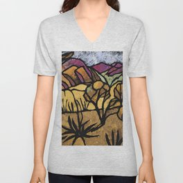 """A Mile Out of Alice Spings"" Margaret Preston Unisex V-Neck"