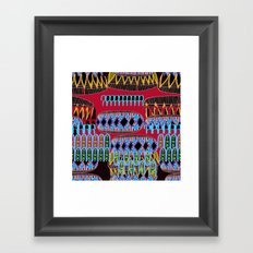 geometric number 6 Framed Art Print