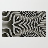 exo Area & Throw Rugs featuring Exo-skelton 3D Optical Illusion by BohemianBound