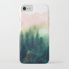 Watercolor mountain landscape iPhone 7 Slim Case