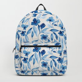 Prussian Floral Backpack