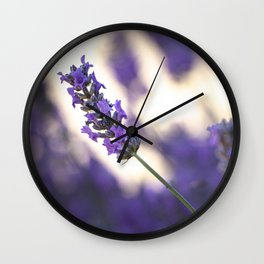 Close-up of lavender blossoms  Wall Clock