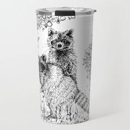 Raccoons in the Garden Travel Mug