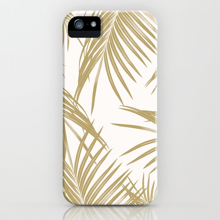 Gold Palm Leaves Dream #1 #tropical #decor #art #society6 iPhone Case