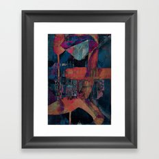 disquiet seventeen (spontaneous self assembly) Framed Art Print