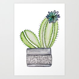 Cactus Doodle Art Print