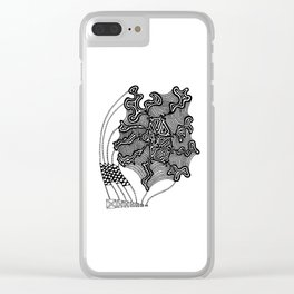 Sail Abstract Clear iPhone Case