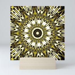 Yellow White Black Sun Explosion Mini Art Print