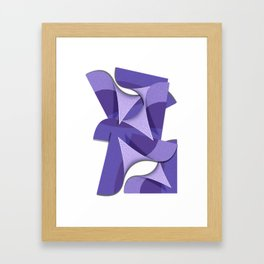 Ultra Violet Abstract Waves Framed Art Print