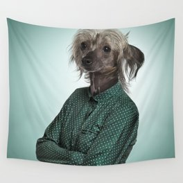 Chinese hairless crested dog Wall Tapestry