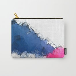square fantasy colored waves Carry-All Pouch