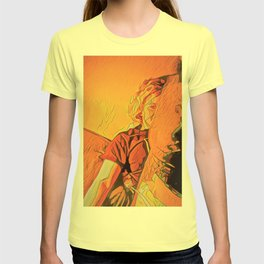 inside on rainy evenings with the incandescent bulb plugged in T-shirt