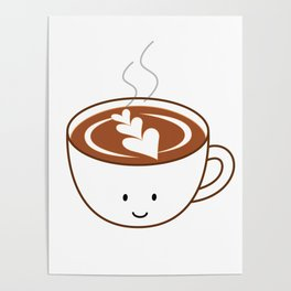 Coffee Latte | queenie's cards Poster