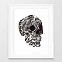 ornate Framed Art Prints featuring Ornate Skull by BIOWORKZ