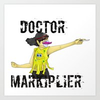 markiplier Art Prints featuring Doctor Markiplier by doodle bags
