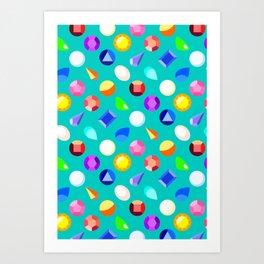 Gems Art Print