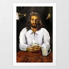 Coffee With Jesus Art Print