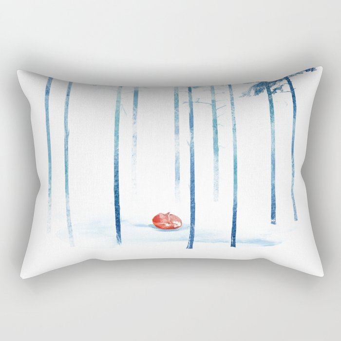 Sleeping in the woods Rectangular Pillow