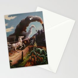 Classical Masterpiece 'Wreck of the Ol' 97' By Thomas Hart Benton Stationery Cards