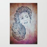 lana Canvas Prints featuring Lana by Rabassa