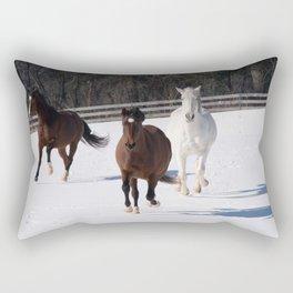 Snow antics Rectangular Pillow