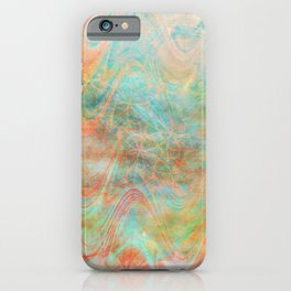Orange And Aqua Heat Waves iPhone Case