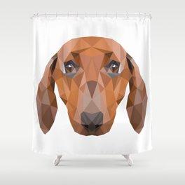 Dachshund Dog Shower Curtain