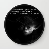 yoda Wall Clocks featuring yoda by muffa
