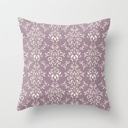Decorative Pattern in Light Magenta and Cream Throw Pillow