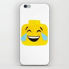 Tears of Joy - Emoji Minifigure Painting iPhone & iPod Skin