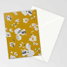 mustard poppies Stationery Cards