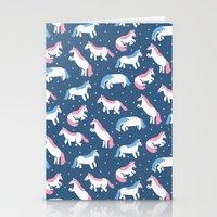 unicorns Stationery Cards featuring Unicorns by Sara Maese