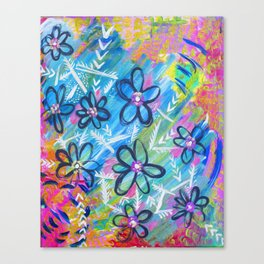 Flower Party Canvas Print