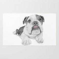 A Bulldog Puppy Rug