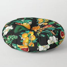 Fruit and Floral Pattern Floor Pillow