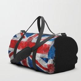 Great Britain grunge flag Duffle Bag