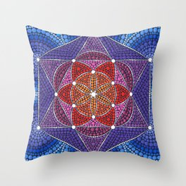 Creation Mandala Throw Pillow