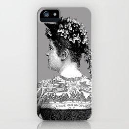 Tattooed Victorian Woman iPhone Case