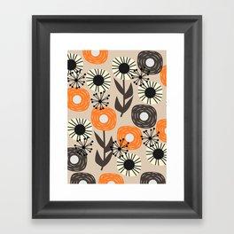 Some happy flowers Framed Art Print