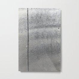 Grunge metal texture Metal Print