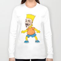 anonymous Long Sleeve T-shirts featuring Anonymous by Daniel Cash