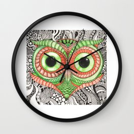 Ornamental Owl Wall Clock