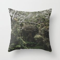 Jungle of Trees in Hilo, Hawaii Throw Pillow