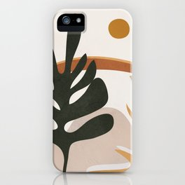 Abstract Plant Life I iPhone Case